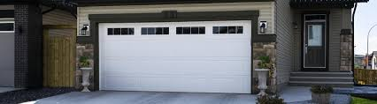 An example of a new garage door made of steel